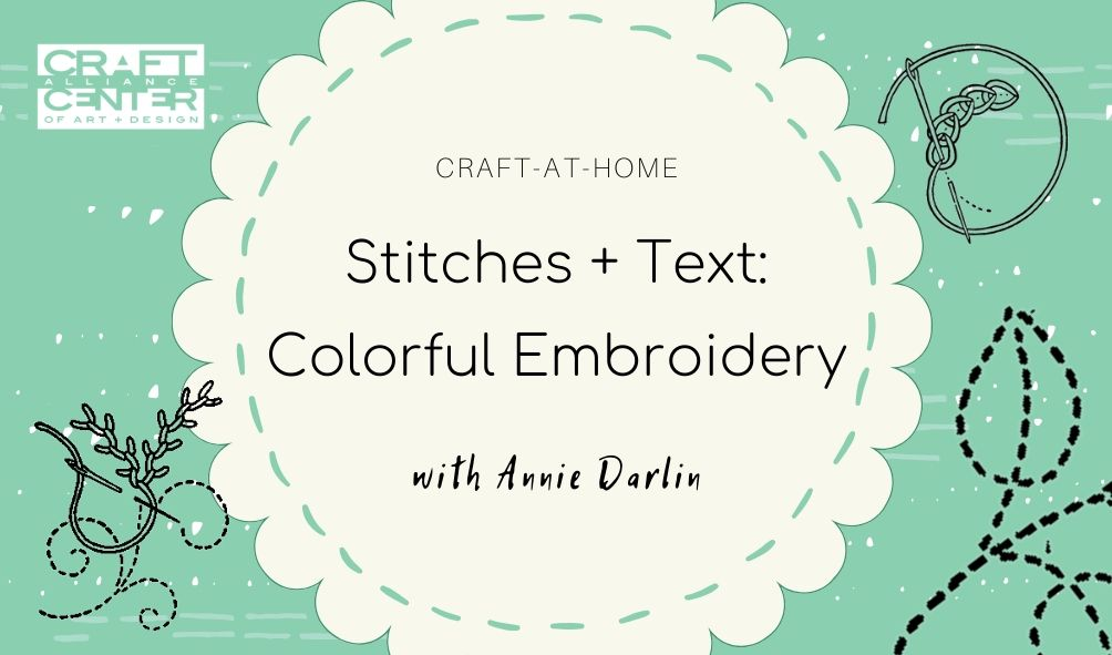 Stitches + Text Colorful Embroidery
