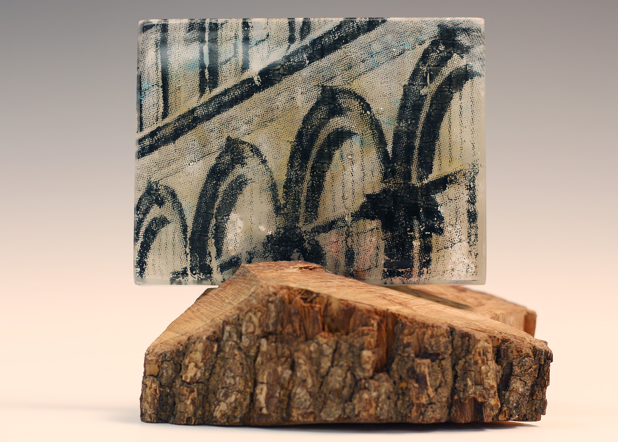 Beverly Brandt • Urban Castle 2 • Glass, wood • $425