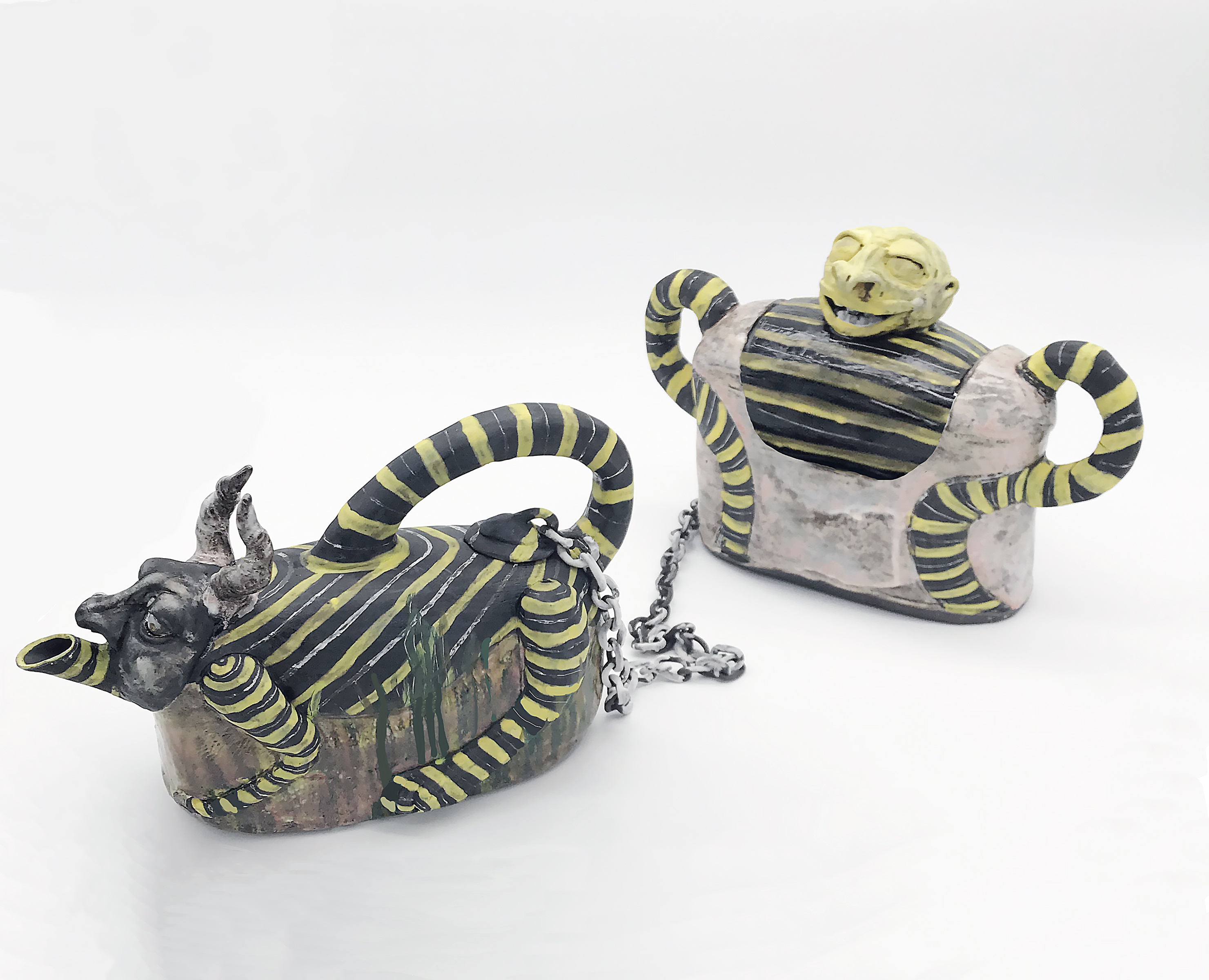 "Jill Foote Hutton, ""Teapot and Cookie Jar"""