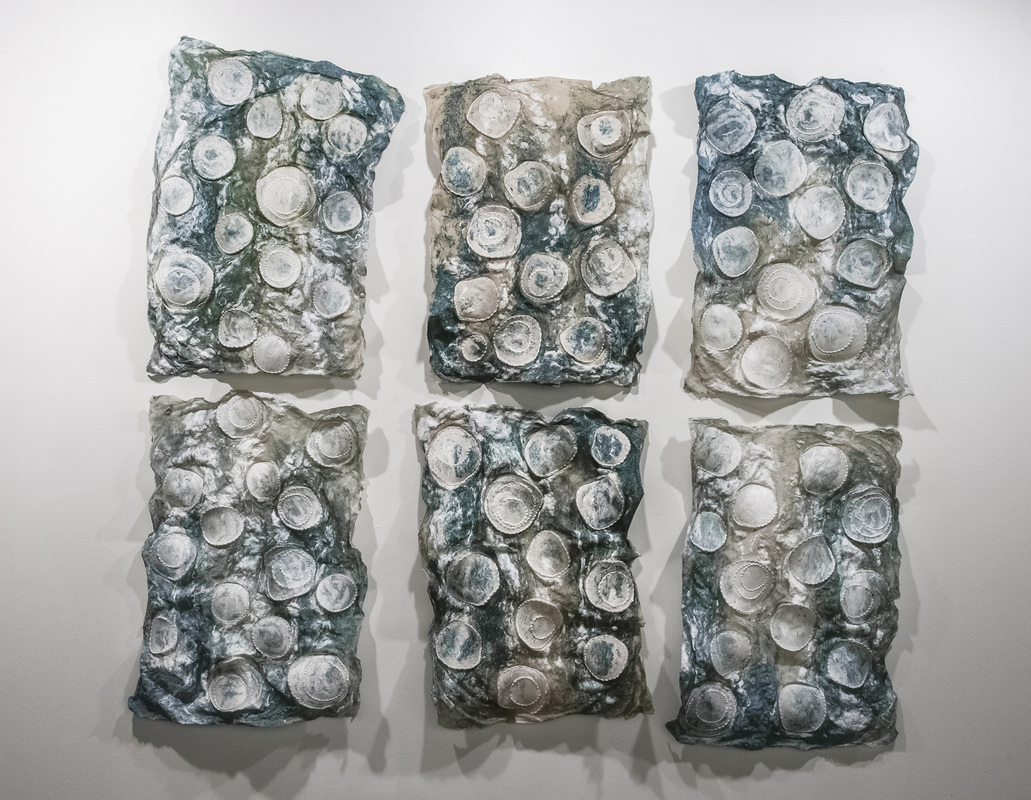 "SIngelton - Aerial Weirs 2015 Handmade Paper of Abaca and Kozo, Wire 48 "" X 56"" (Six Panels).jpg"