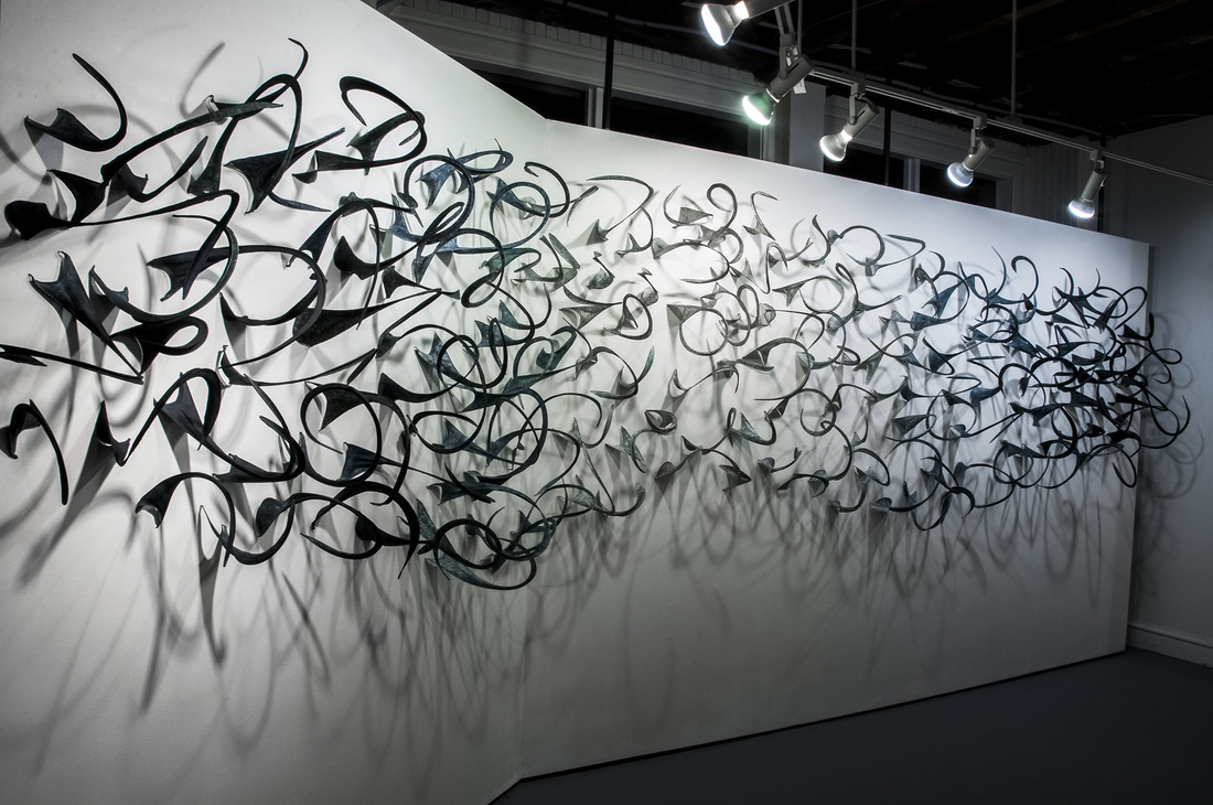 SIngelton -Interchange, an Average of Eighteen 2015 Handmade Paper of Abaca and Wire Dimensions variable (18 feet in length).jpg